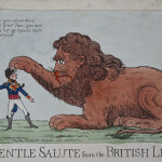 A gentle salute from the British lion