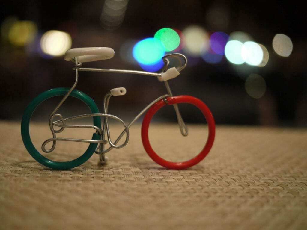 Bicycle made of wire