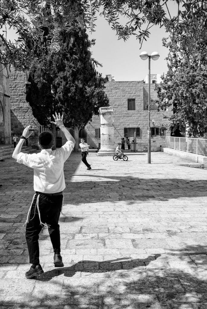 Boys playing in the Jewish Quarter