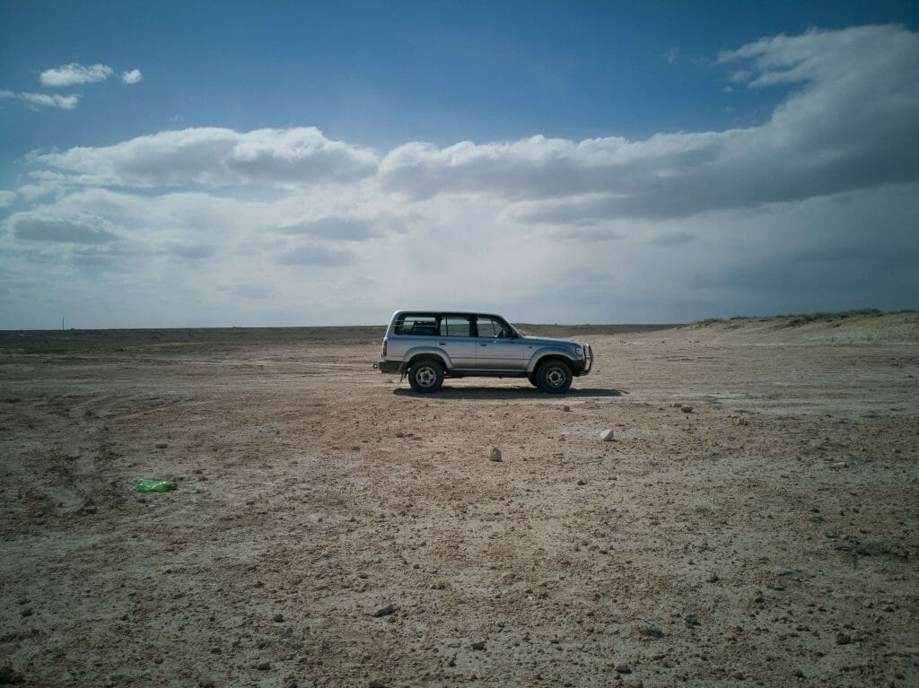 Driving through the Aral Sea