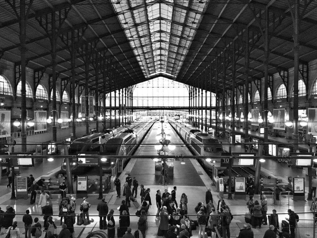 Gare du Nord, Paris, on the day after the November 2015 shootings