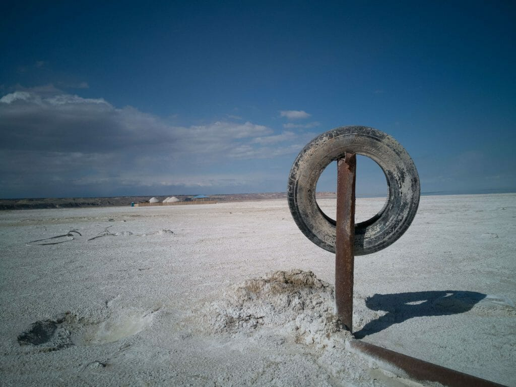 On what used to be the Aral Sea
