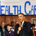 President Obama speaking to HealthCare.gov volunteers